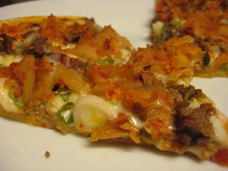 Pizza! Pizza! Kimchi pizza!