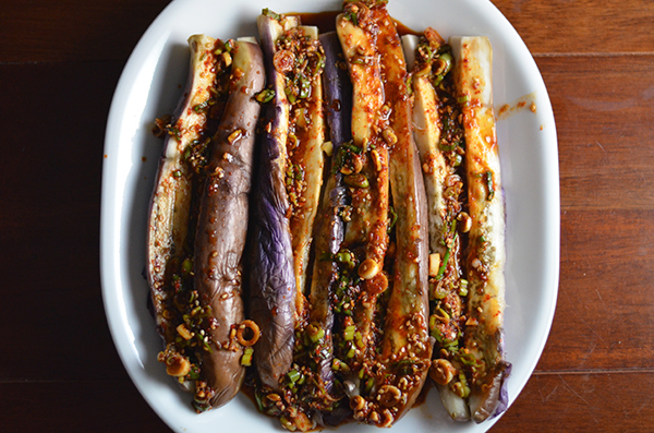 Korean style steamed eggplant and my individual medley kimchi mom print friendly forumfinder Gallery