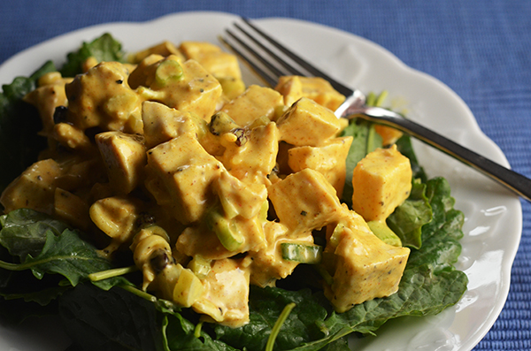 Curried (Leftover) Turkey Salad #SundaySupper