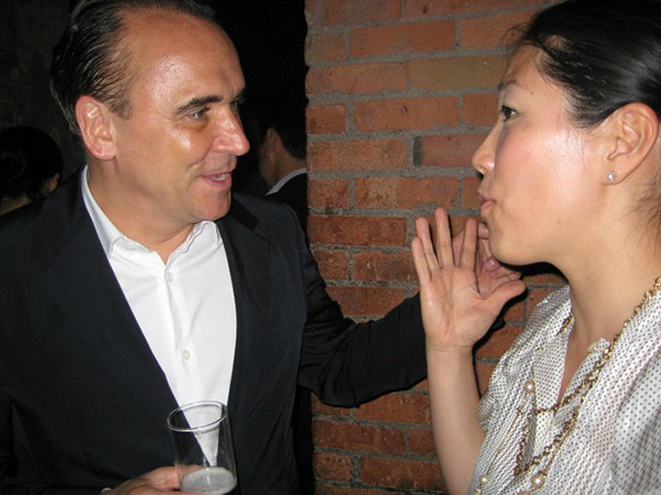 Chatting it up with Jean-Georges.