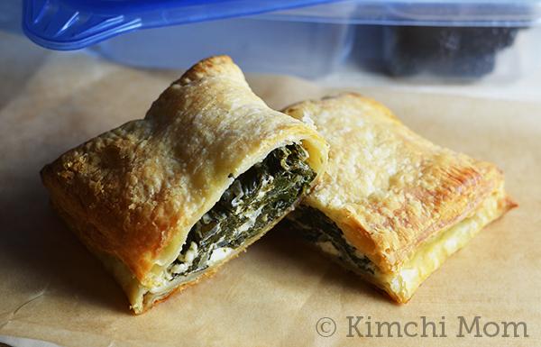 Greek-style Spinach Hand Pies | www.kimchimom.com