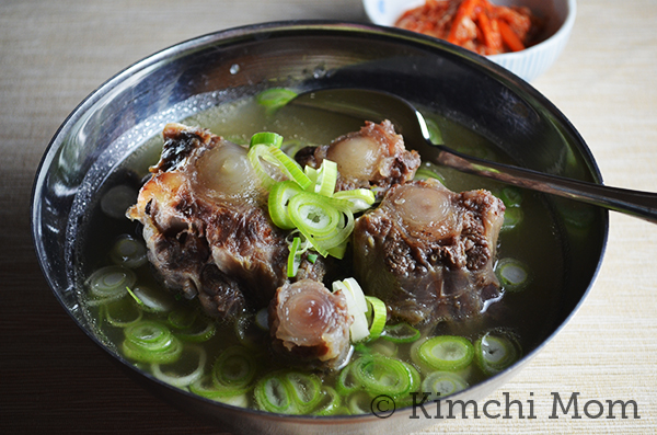 Korean Oxtail Soup (Kkori Gomtang) #SundaySupper