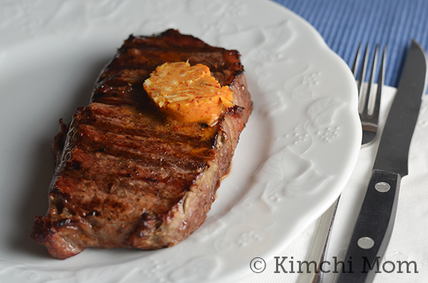 butter steak with kimchi butter recipe grilled steak with kimchi
