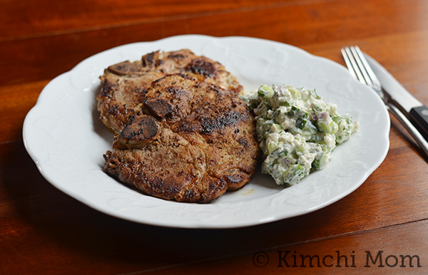 Greek-style Pork Chops | www.kimchimom.com