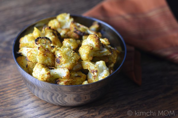 Indian-style Roasted Cauliflower | www.kimchimom.com