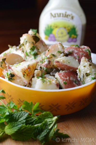 Minty Potato Salad #TeamAnnies | www.kimchimom.com