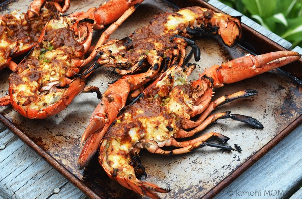 how to cook whole lobster on the grill
