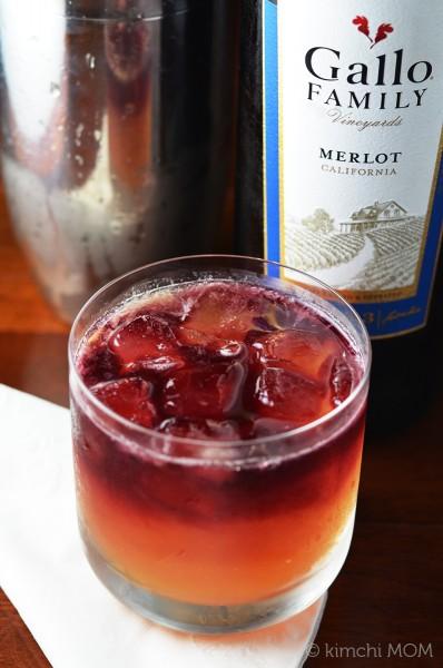 Red Wine Cocktail #SundaySupper   www.kimchimom.com