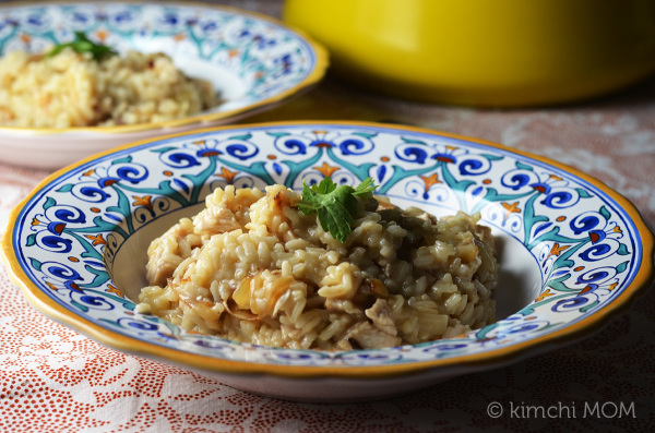 Turkey and Caramelized Onion Risotto #SundaySupper