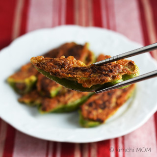 Gochujun (Korean stuffed pan-fried peppers) #SundaySupper