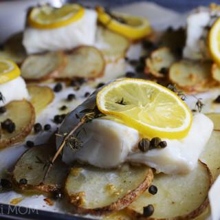 Lemon-herb Sole on Crispy Potato Rafts #WeekdaySupper #Giveaway