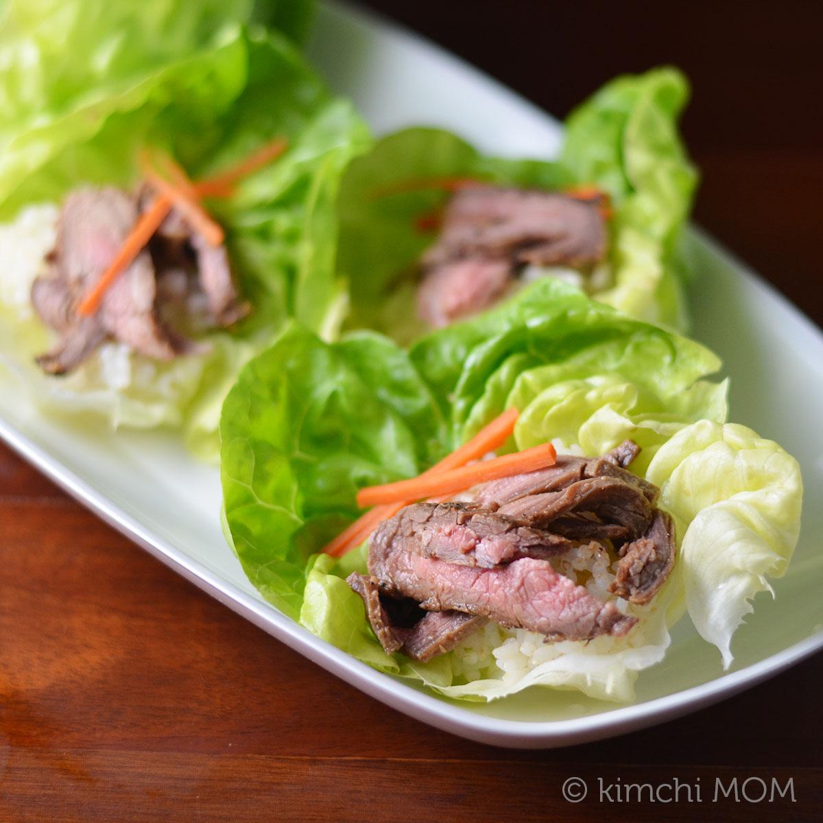 Korean Grilled Flank Steak Ssam #FWCon #GrillTalk