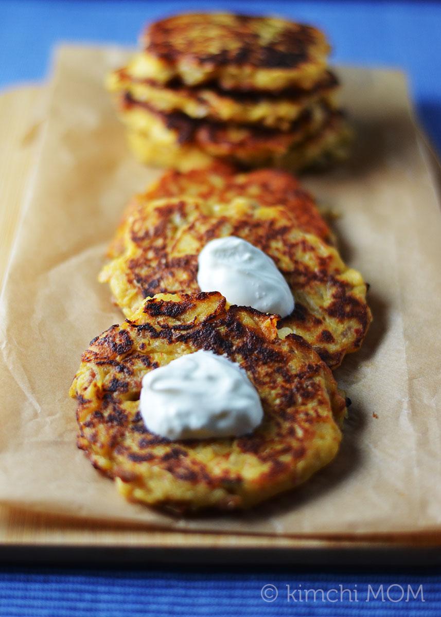 Chorizo and Kimchi Potato Pancakes #IsabelsBirthdayBash