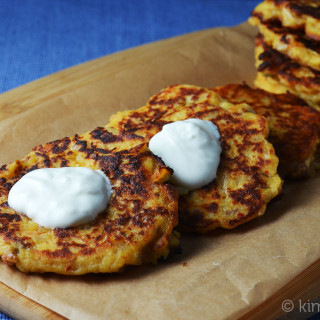Chorizo and Kimchi Potato Pancakes #‎IsabelsBirthdayBash‬