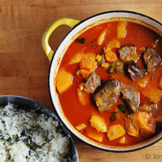 Thai Red Curry with Beef and Butternut Squash #SundaySupper