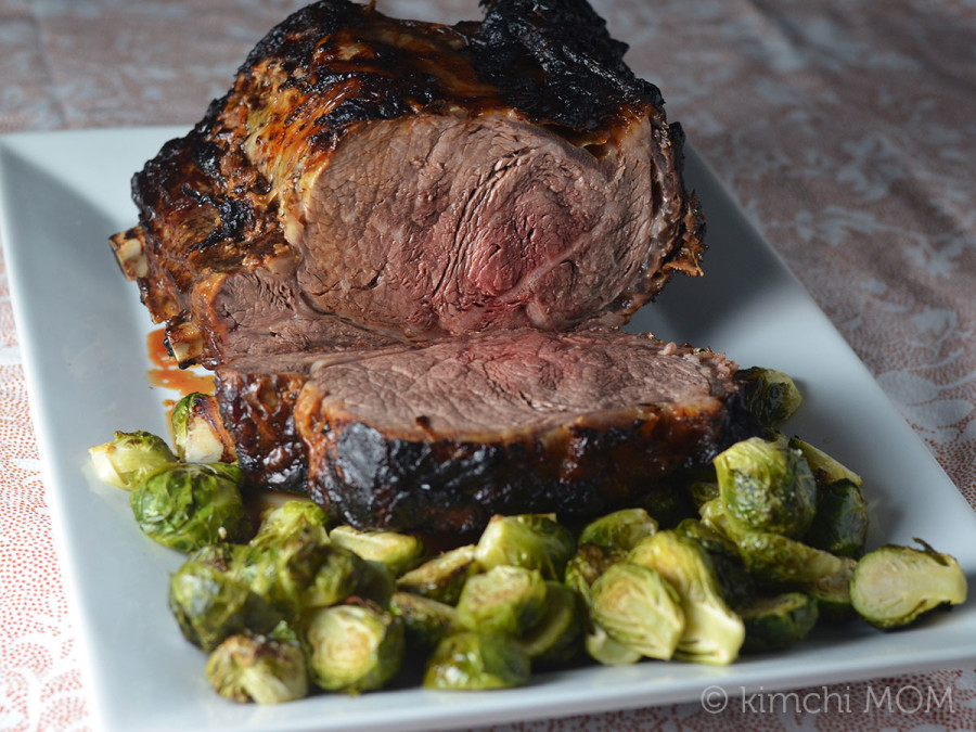 Miso Glazed Standing Rib Roast au Jus #SundaySupper #RoastPerfect
