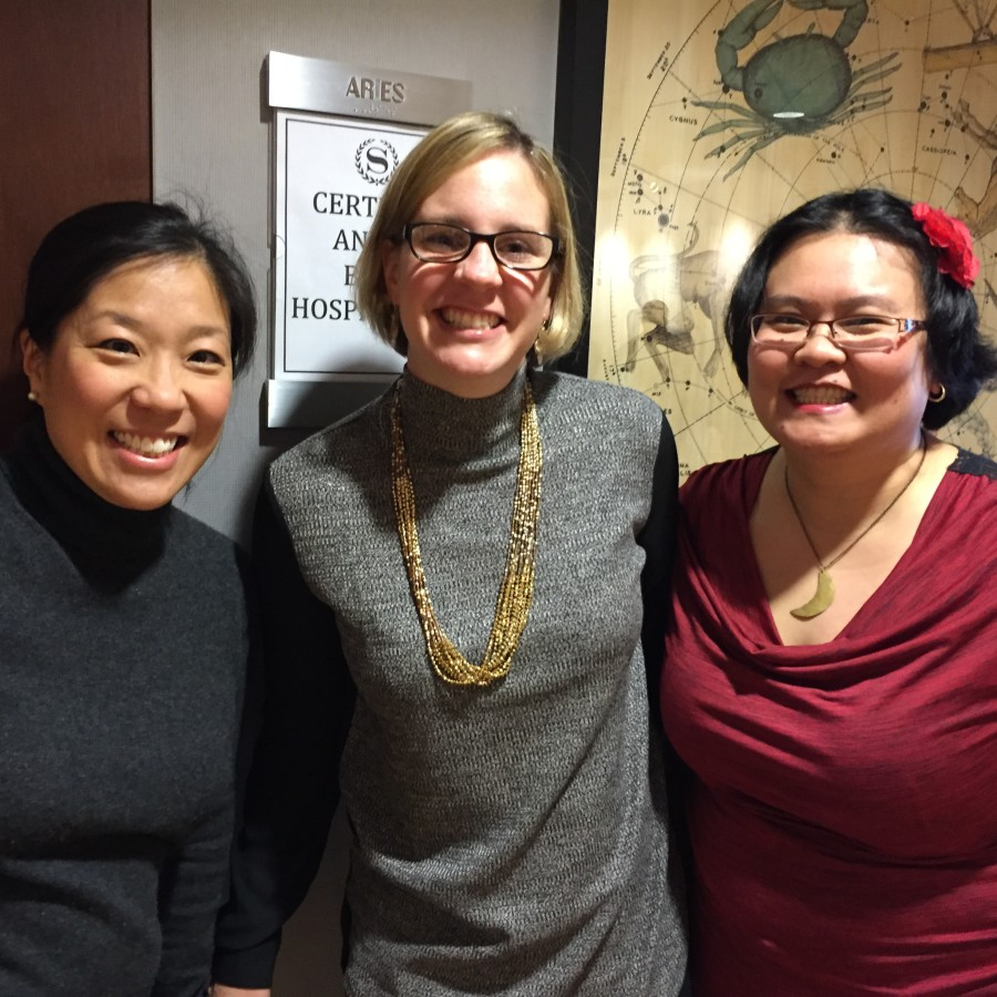 With Jenny Melrose and Thien-Kim Lam