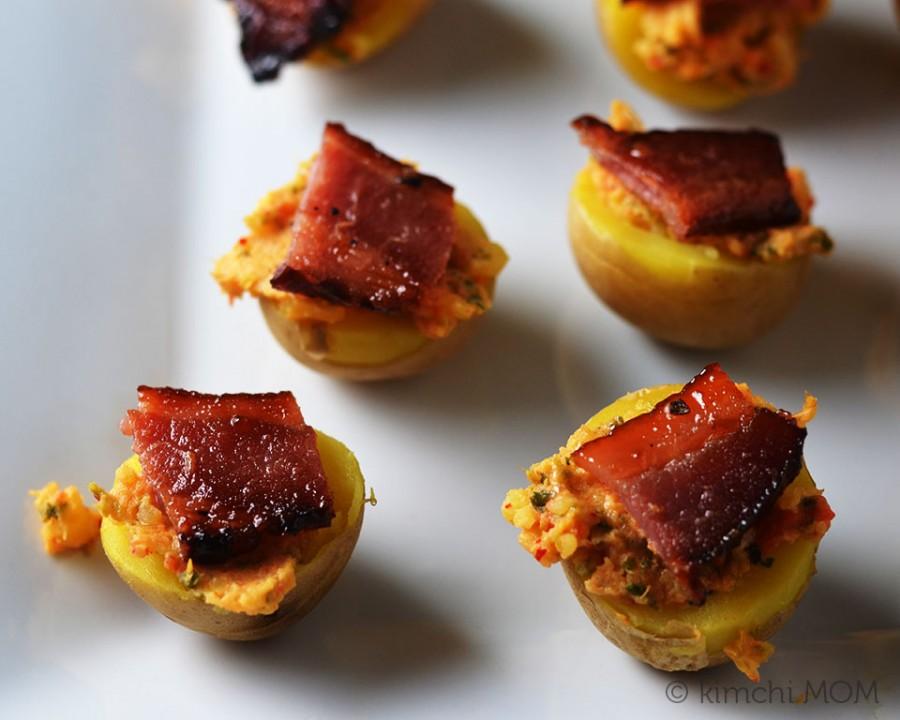 Potato Kimchi Bacon Bites