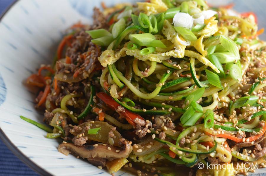 zucchini japchae