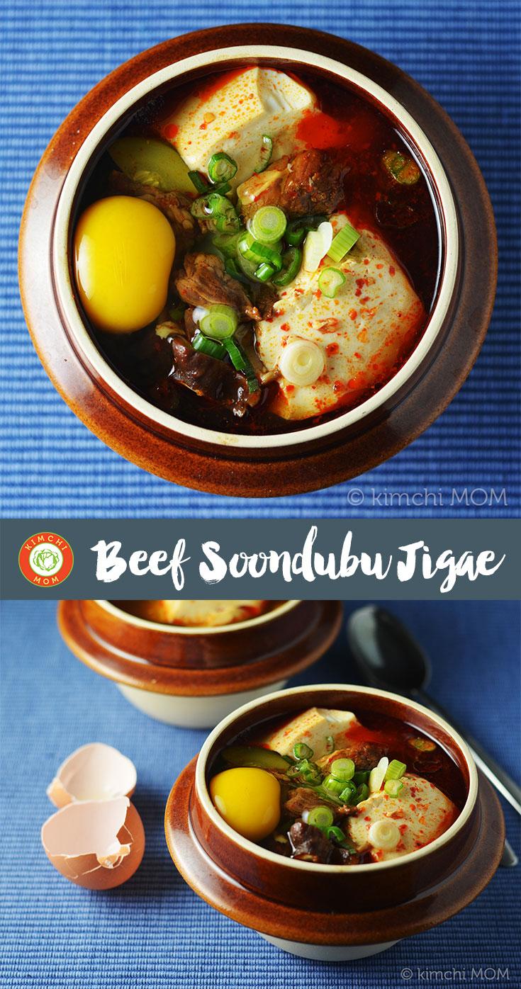 Beef Soondubu Jigae #SundaySupper