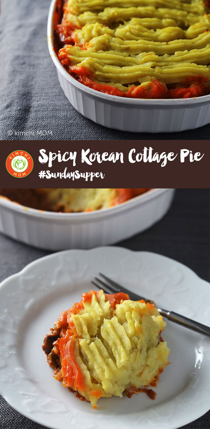 Spicy Korean Cottage Pie #SundaySupper