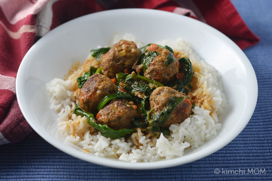 Thai Red Curry Meatballs #SundaySupper