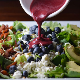 Blueberry Cobb Salad with Roasted Blueberry Chipotle Vinaigarette #BlueberryToss #FWCon