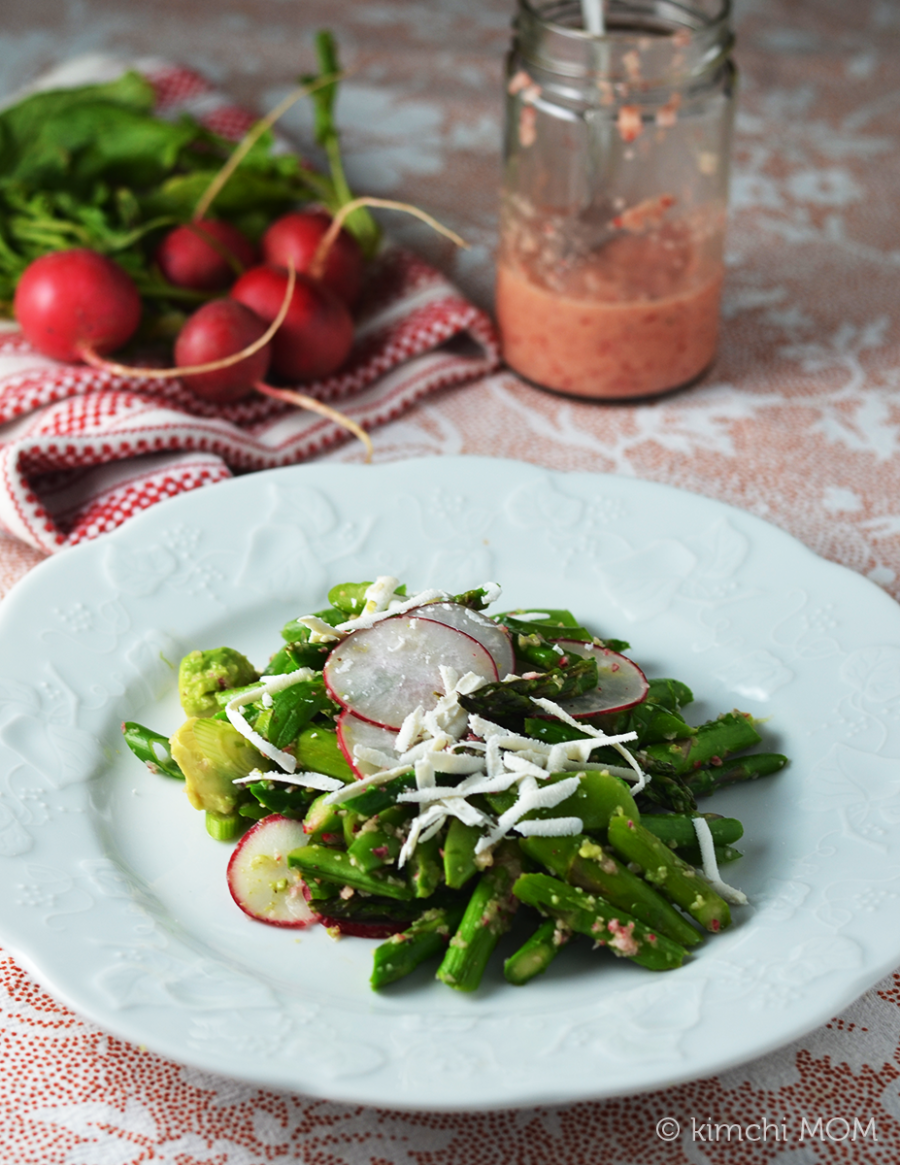 Snap Pea, Asparagus, and Avocado Salad with Radish Vinaigrette # ...