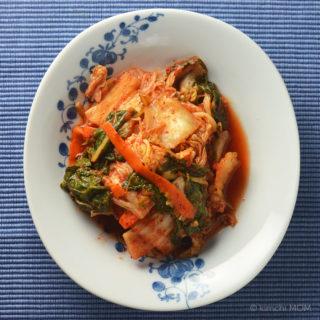 Easy to Make Cabbage Kimchi (Mak Kimchi) #SundaySupper
