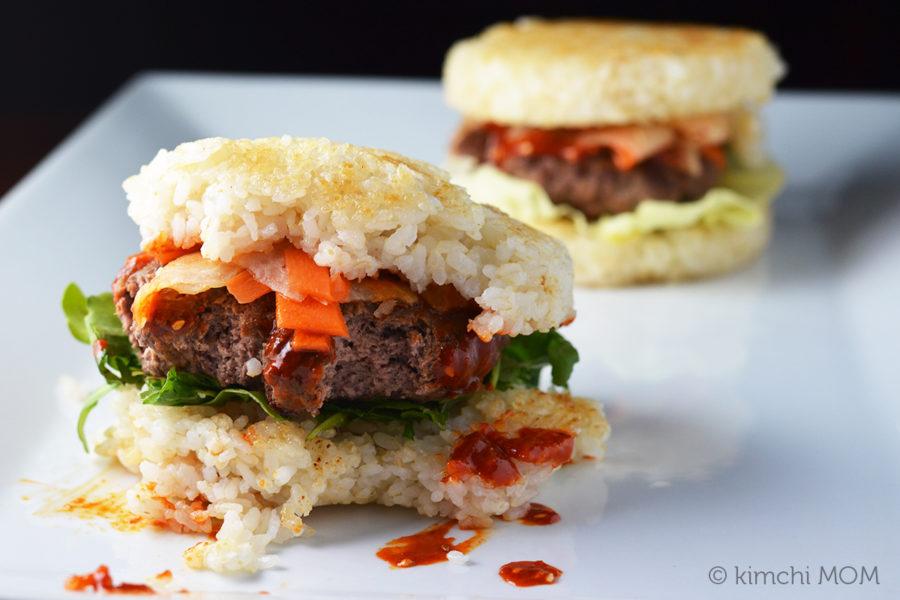 Spicy Bibimbap Burger #BurgerMonth