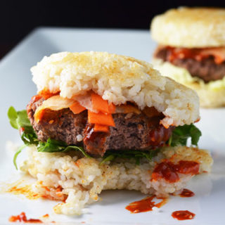Spicy Bibimbap Burger for #BurgerMonth