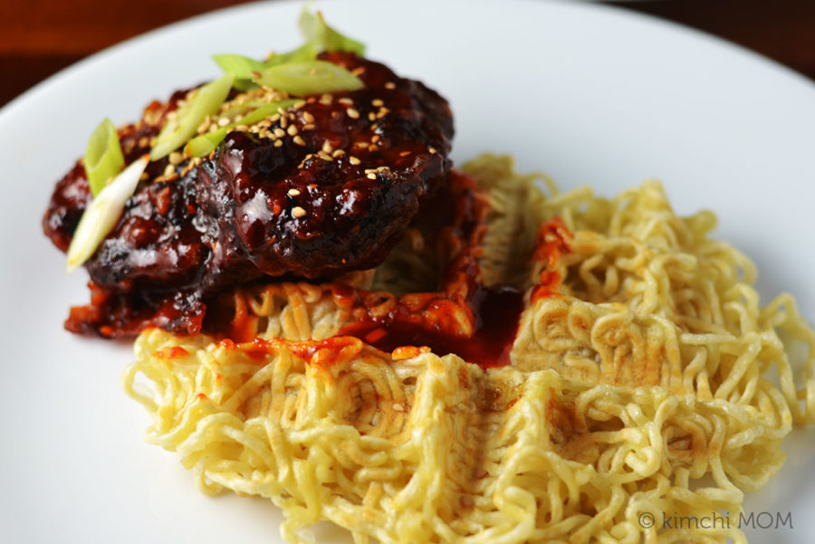 Chicken and Ramen Waffles #SundaySupper