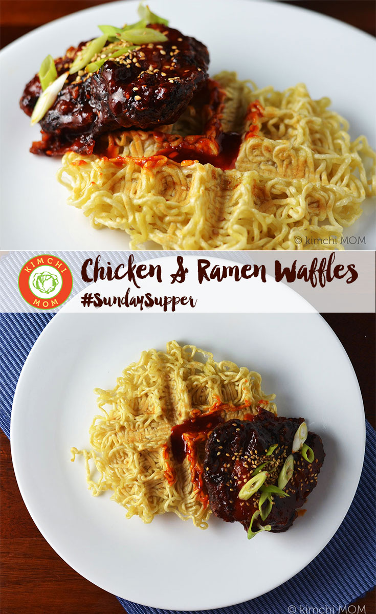 Chicken and Ramen Waffles plus 40+ waffle recipes for #SundaySupper!