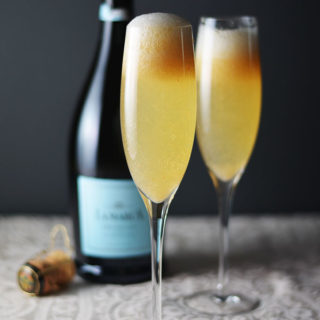 Peach Ginger Bellini #SundaySupper