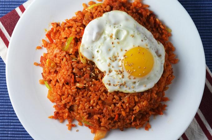 Kimchi Bacon Fried Rice #SundaySupper
