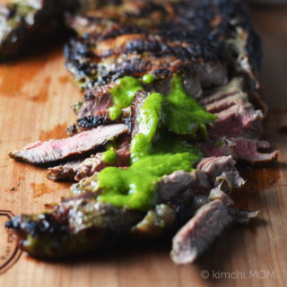 Fresh Cilantro Jalapeno Marinated Sirloin Steak #NYCWFF