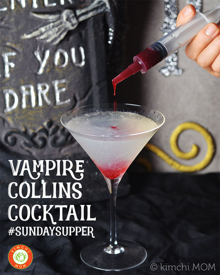 Vampire Collins Cocktail #SundaySupper