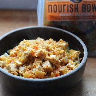 Sesame Sriracha Bowl with Kimchi Tofu #SundaySupper #Nourish2Flourish